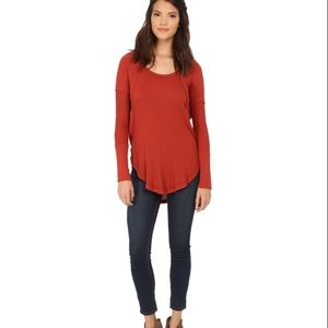 Free people ventua long thermal burnt orange